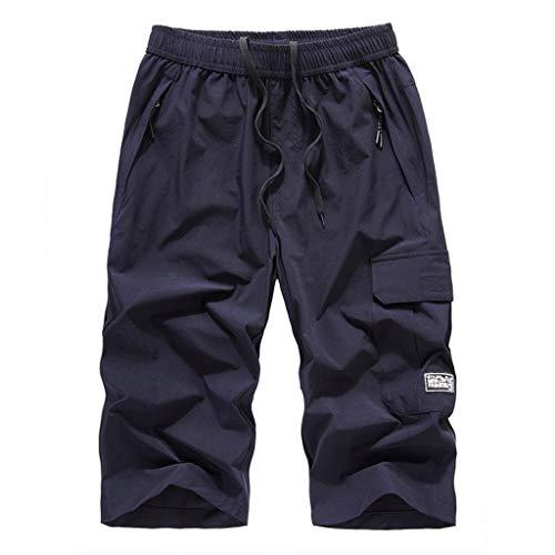 iHHAPY Men's Walk Shorts Fast-Drying with Elastic Waist