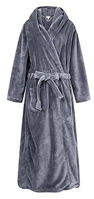 Richie House Men's Warm and Soft Fleece Robe Bathrobe with Hood RHM2760