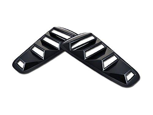 Autobotusa Black Retro Sport Rear 1/4 Quarter Side Vent Window Louvers V1 05-09 Ford ()