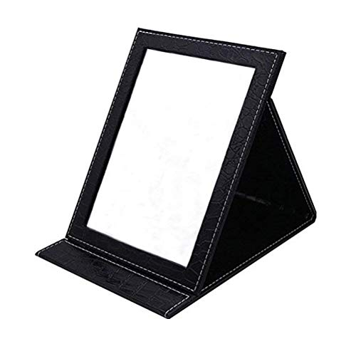 Oneuo Desktop Folding Mirror, Portable Folding Vanity Mirror, Tabletop Mirror with Stand for Cosmetics Personal Beauty, Makeup Mirror ()