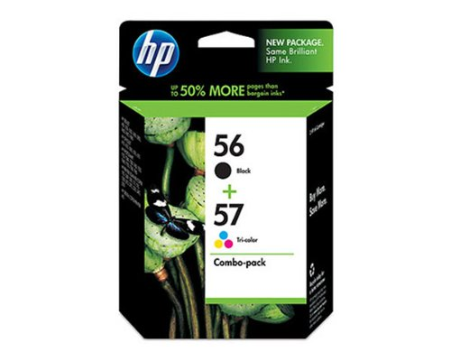 - HP 56/57 (C9321FN, C9321FN140) Combo Pack OEM Genuine Inkjet/Ink Cartridges (Black C6656AN+ Tri-Color C6657AN)*1 - Retail by HP
