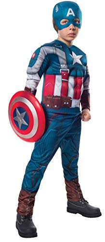 Rubies Marvel Comics Collection: Captain America: The Winter Soldier Deluxe Retro Suit Captain America Costume, Child Large]()