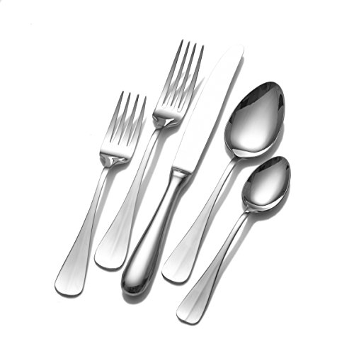 (Wallace 5118274 Blaine 45-Piece 18/10 Stainless Steel Flatware Set, Service for 8)