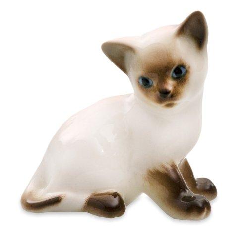 - Imperial / Lomonosov Porcelain 'Siamese Kitty Paramosha' Figurine
