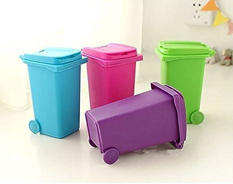 Pen Pencil Holder Container Multifunction Desktop Dustbin Vase Pot Station s//