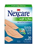 Nexcare Comfort Flexible Fabric Bandage, Assorted Sizes, 30 Count