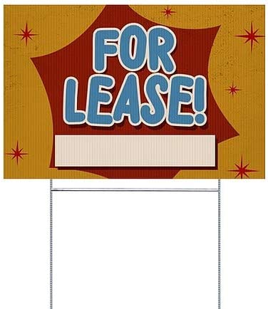 CGSignLab for Lease 27x18 Nostalgia Burst Double-Sided Weather-Resistant Yard Sign 5-Pack