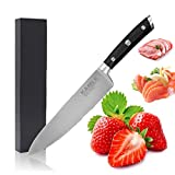 Chef Knife - KAMLE Chef's Knife 8 inch Kitchen Knife German Stainless...