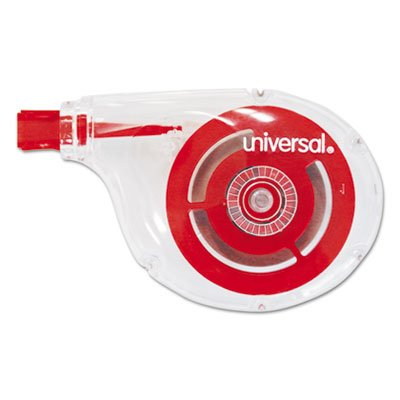 Correction Tape, Sidewinder, Non-Refillable, 1/4'' x 394'', 10/Pack, Sold as 1 Box by Universal (Image #1)