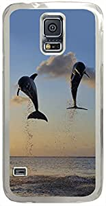 Animals & Birds Dolphins-In-Bay-Islands Cases for Samsung Galaxy S5 I9600 with Transparent Skin