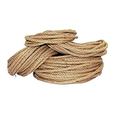Twisted Jute Rope - SGT KNOTS - Thick Heavy Duty 3 Strand Jute Ropes - Strong All Natural Jute Fibers - Crafts & Crafting, Garden & Gardening, Bailing, Packing, Survival, Home Decor (1/2 in x 100 ft)