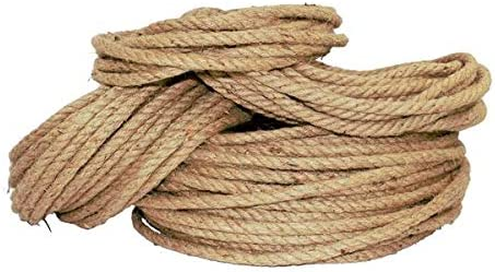Packing Crafts /& Crafting Strong All Natural Jute Fibers Twisted Jute Rope Garden /& Gardening Thick Heavy Duty 3 Strand Jute Ropes Survival 1//2 in x 100 ft SGT KNOTS Bailing Home Decor