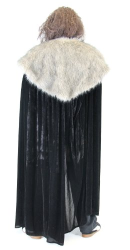Game of Thrones Medieval North King Ned Stark Fur Costume Cloak Cape