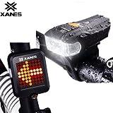 Generic XANES 600LM German Standard Bike Front Light 64 LED Intelligent Brake Warning Bicycle Taillight Set
