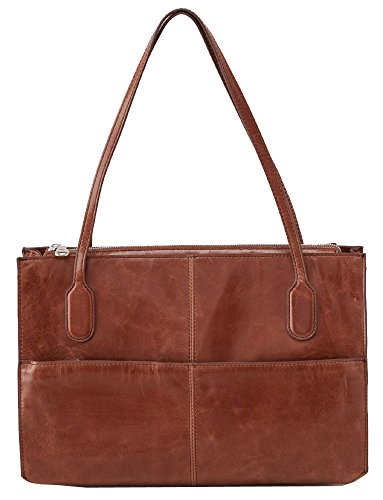 [Hobo Women's Genuine Leather Vintage Friar Top Handle Shoulder Bag (Cafe)] (Hobo Purse)