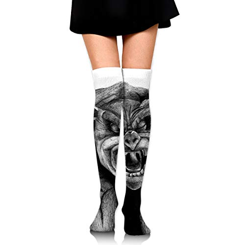 Ball Gargoyle (Halloween Zombie Bat Gargoyle Ankle Stockings Over The Knee Sexy Womens Sports Athletic Soccer Socks)