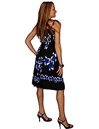 1 World Sarongs - Vestido de mujer con diseño de hibisco