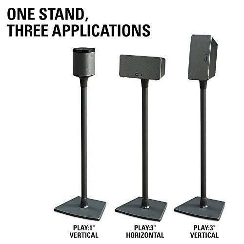 sanus wireless speaker stand designed for sonos play 1 and import it all. Black Bedroom Furniture Sets. Home Design Ideas