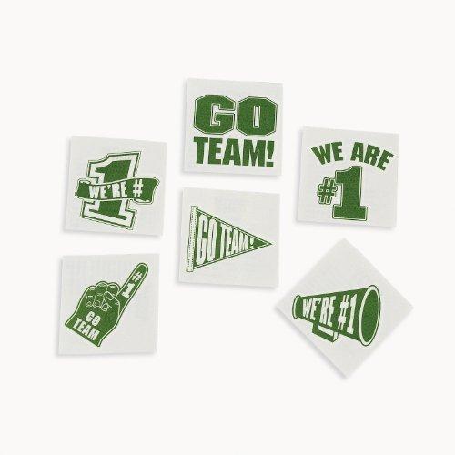 Green Go Team Tattoos (6 dz) ()