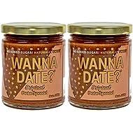 Wanna Date? Original Date Spread, Vegan, Paleo Friendly, Gluten-Free, Dairy-Free, Non-GMO, No Added Sugar, No Cane Sugar, No Corn Syrup, Healthy Sugar Substitute, Sugar Free Alternative (2 Jars)