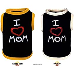 """""""I LOVE MOM"""" EMBROIDERED REFLECTIVE DOG SHIRT ALL SIZES ULTRA PAWS (3XL)"""