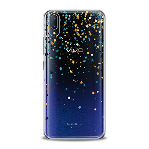 Lex Altern TPU Case for Vivo V15 Pro V11 V9 V7 V5 V3 X23 X21 X9 Nex Gentle Stars Gift Clear Tender Soft Colored Slim fit Starfall Print Galaxy Flexible Lightweight Smooth Space Cover Design Awesome -