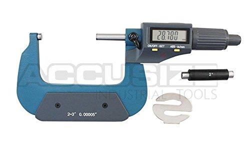 accusizeツール – 電子、デジタル外側マイクロメータ、0 – 1 in / 0 – 25 mm , 1 – 2 in / 25 – 50 mm、2 – 3 / 50 – 75 mm / 75 – 100 mm、4 – 5 / 100 – 125 mm、5で、3 – 4 – 6でで/ 125 – 150 mm B00S55J4J0 2-3