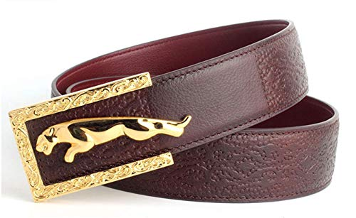 Jaguar belt stainless steel buckle men's leather cut for sale  Delivered anywhere in Canada