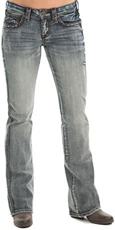 Cowgirl Tuff Western Jeans Womens Denim Rodeo Medium Wash JRODEO