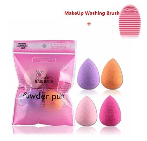 Ularma 4pcs Pro Beauty Flawless Makeup Blender Foundation Puff Multi Shape Sponges