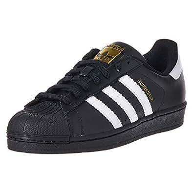 adidas, Superstar Foundation Shoes, Women's Shoes, Black/White/Black, 4.5 US