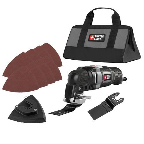 PORTER-CABLE PCE606K 3-Amp Oscillating Multi-Tool Kit with 11 Accessories by PORTER-CABLE