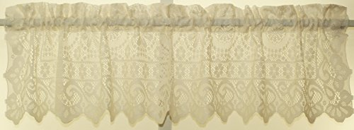 Newhope Daisy Lace Design Valance 58Wx12L Cream