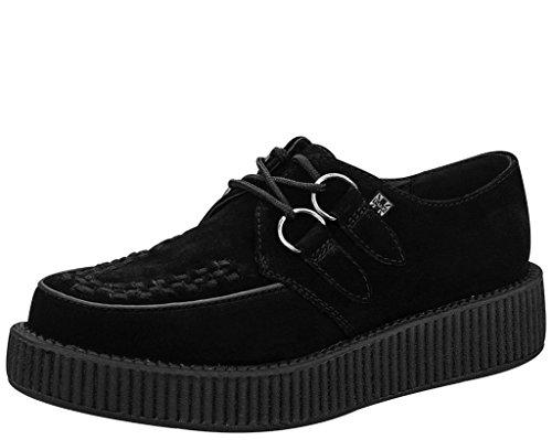 T.U.K. Unisex V7270 Creeper Oxford, Black, 7 M US - Mondo Creeper Shoe
