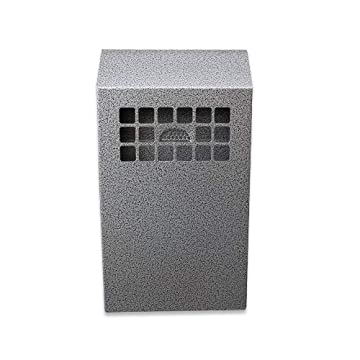 Image of No Butts Original Wall Mounted Cigarette Bin Receptacle (Silver) Ashtrays
