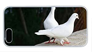 Hipster iphone 5 case case mate cover white pigeon doves PC White for Apple iPhone 5/5S