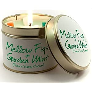 Lily Flame Scented Candle in a presentation Tin - Mellow Figs and Garden Mint