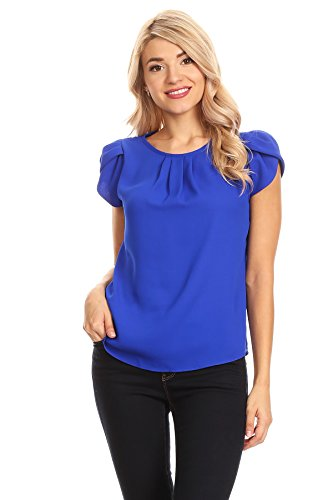 April Apparel Women's Basic TOP (Small, Royal Blue) ()