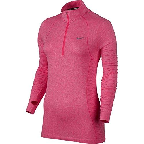 Nike Women's Dri-FIT Knit Long Sleeve Half Zip Running Shirt 588534-660 (Large) (Nike Dri Fit Knit Long Sleeve Half Zip)