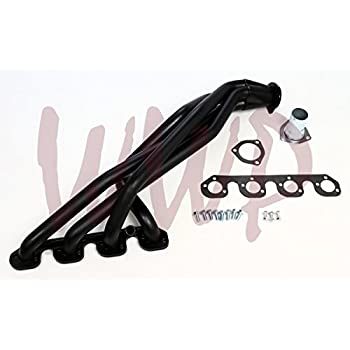 Amazon Com Black Coated Performance Exhaust Header Manifold System