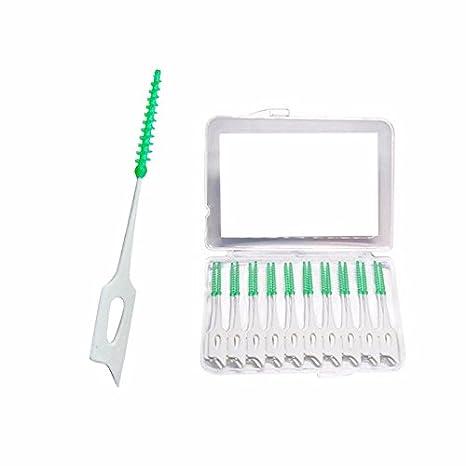 Cepillos dentales interdentales. Placa de silicona cónica que quita los palillos. Paquete de 20: Amazon.es: Hogar