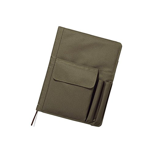 e Notebook with Cover, Journal Cover, Olive, B5, 9.9 x 7 x 1.5 inches (N1627-22) ()