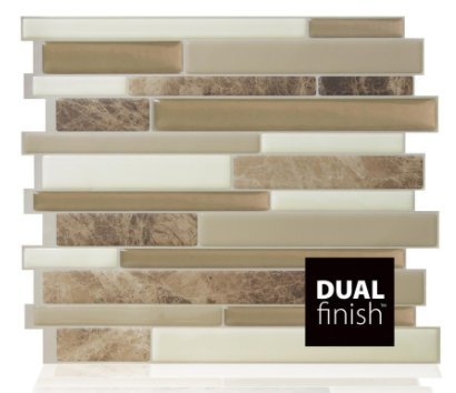 Milano Sasso 11.55 in. W x 9.65 in. H Peel and Stick Decorative Mosaic Wall Tile Backsplash (12-Pack) by Smart Tiles