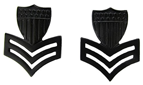 Guard Officer Rank Coast (Coast Guard Black Metal Pin-On Rank - E-6 PO1 - Pair)