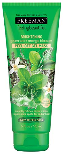 Freeman Brightening Green Tea + Orange Blossom Peel-Off Face Mask, 6 fl.oz
