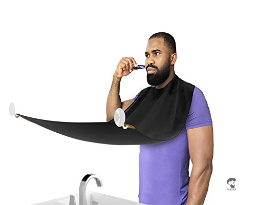Premium Quality Beard Grooming Cape By Centaur Grooming. Best Ergonomic Beard Hair Catcher. Mens Grooming Apron With Suction Cups For Easy and Clean Trimming. Bonus: Travel Bag For Convenient - Collect Label Returns