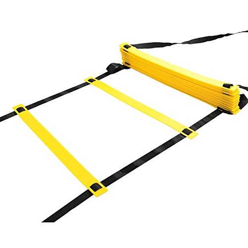 Physport Speed Ladder Soccer Training Agility Ladder with Carry Case Sport Tool (20-Rung)