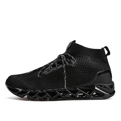 Tricot Course Adulte De Chaussures De Montantes Noir Mode Sneakers Respirant Homme Marche Chaussure Baskets vFwqZ