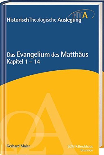 Das Evangelium des Matthäus, Kapitel 1-14 von Thomas Riedel