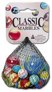 CLASSIC MARBLES by Mega Marbles 10 oz. NET Assorted Marbles by Mega Marbles